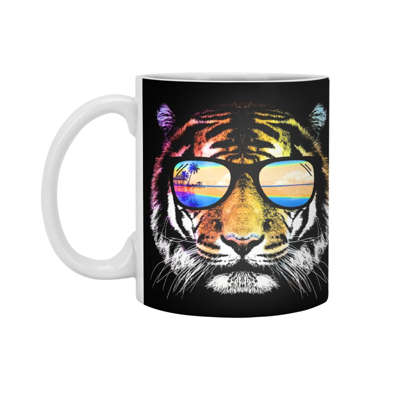 Summer Tiger Accessories Mug by clingcling's Artist Shop