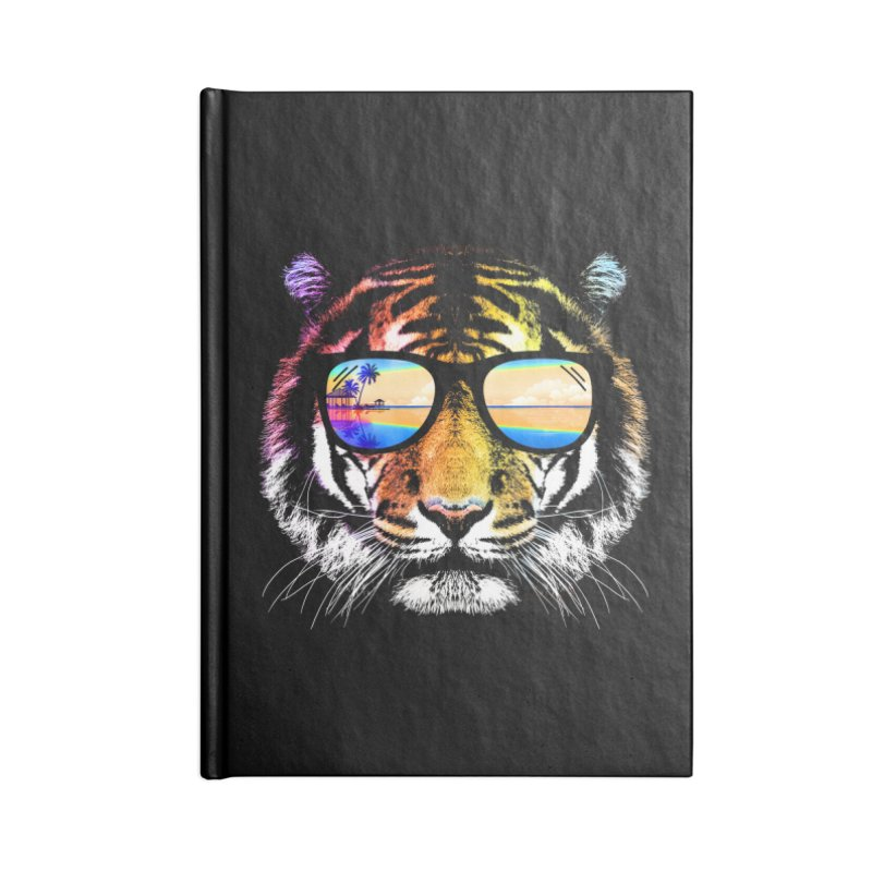 Summer Tiger Accessories Blank Journal Notebook by clingcling's Artist Shop