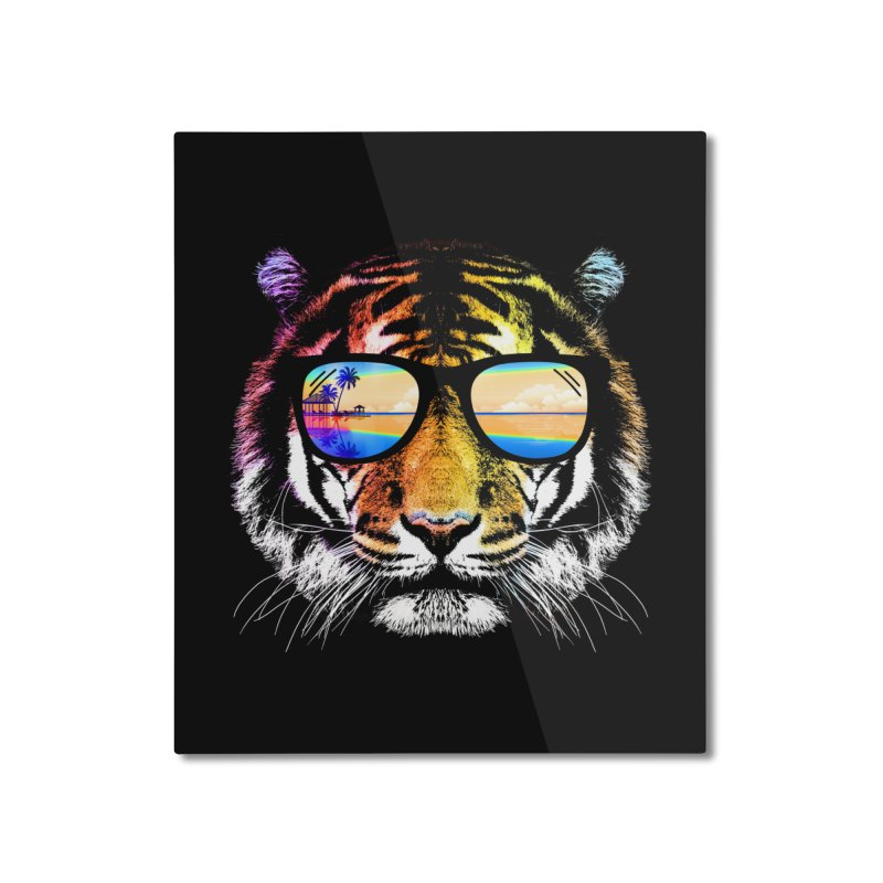 Summer Tiger Home Mounted Aluminum Print by clingcling's Artist Shop