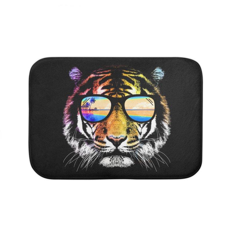 Summer Tiger Home Bath Mat by clingcling's Artist Shop