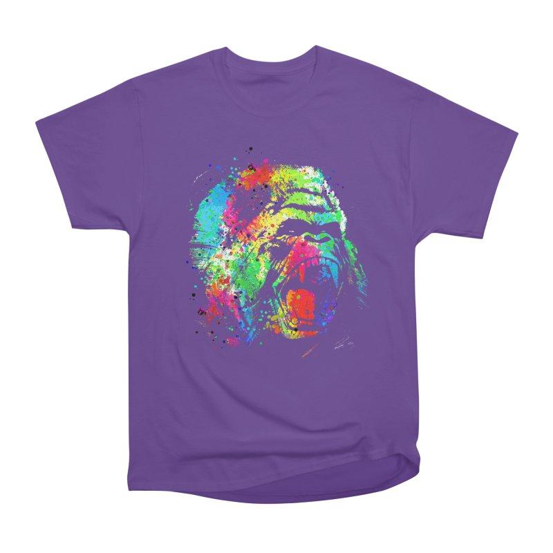 Dripping color Gorilla Men's Heavyweight T-Shirt by clingcling's Artist Shop