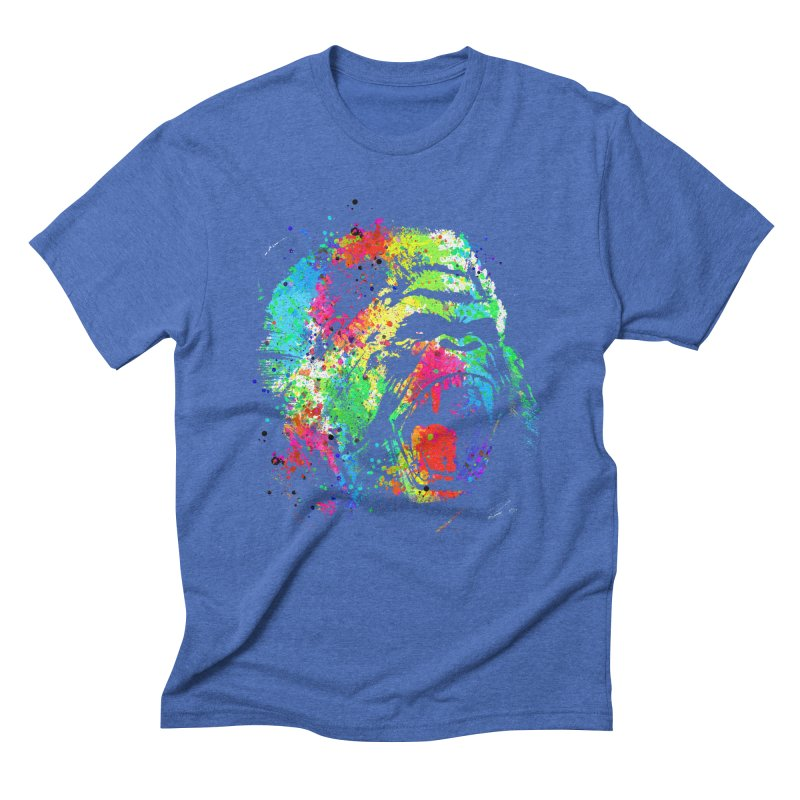 Dripping color Gorilla Men's Triblend T-Shirt by clingcling's Artist Shop