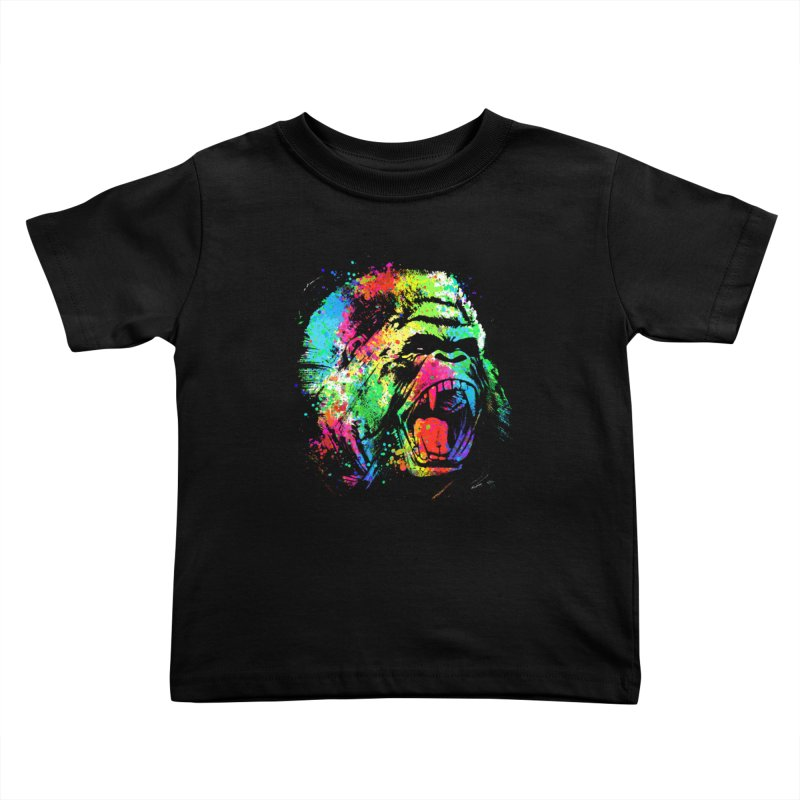 Dripping color Gorilla Kids Toddler T-Shirt by clingcling's Artist Shop