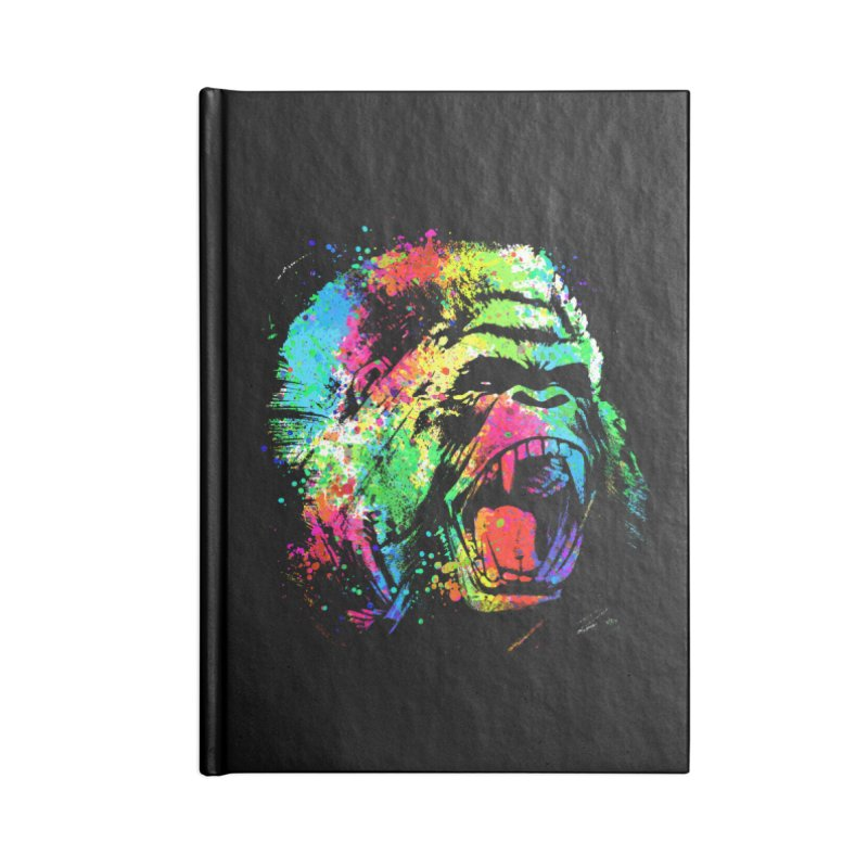 Dripping color Gorilla Accessories Blank Journal Notebook by clingcling's Artist Shop