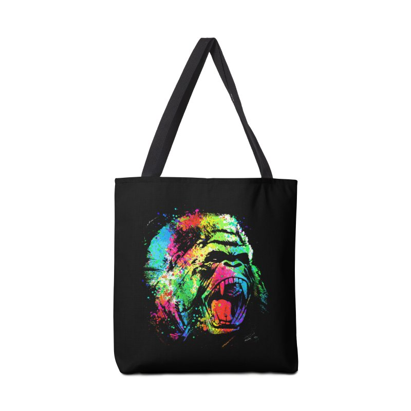 Dripping color Gorilla Accessories Bag by clingcling's Artist Shop