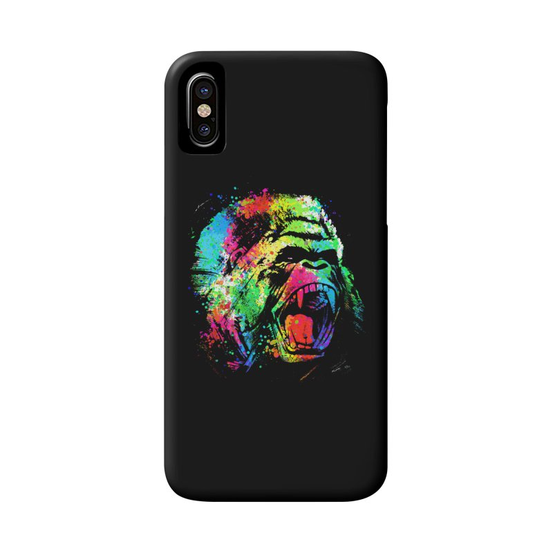 Dripping color Gorilla Accessories Phone Case by clingcling's Artist Shop