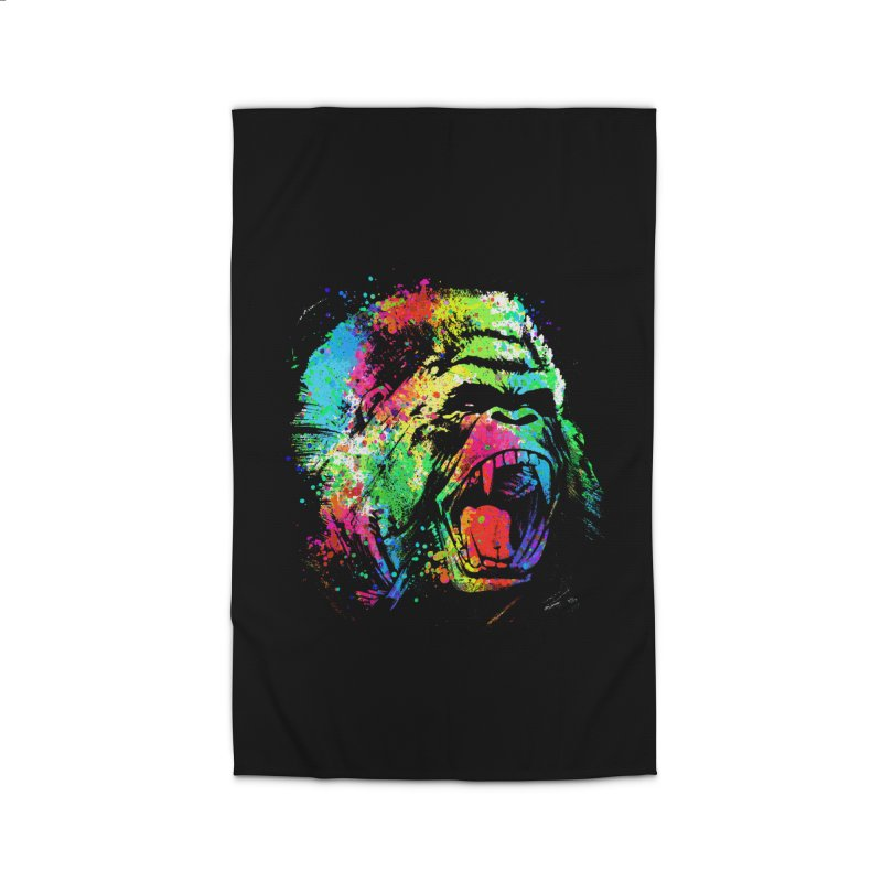 Dripping color Gorilla Home Rug by clingcling's Artist Shop