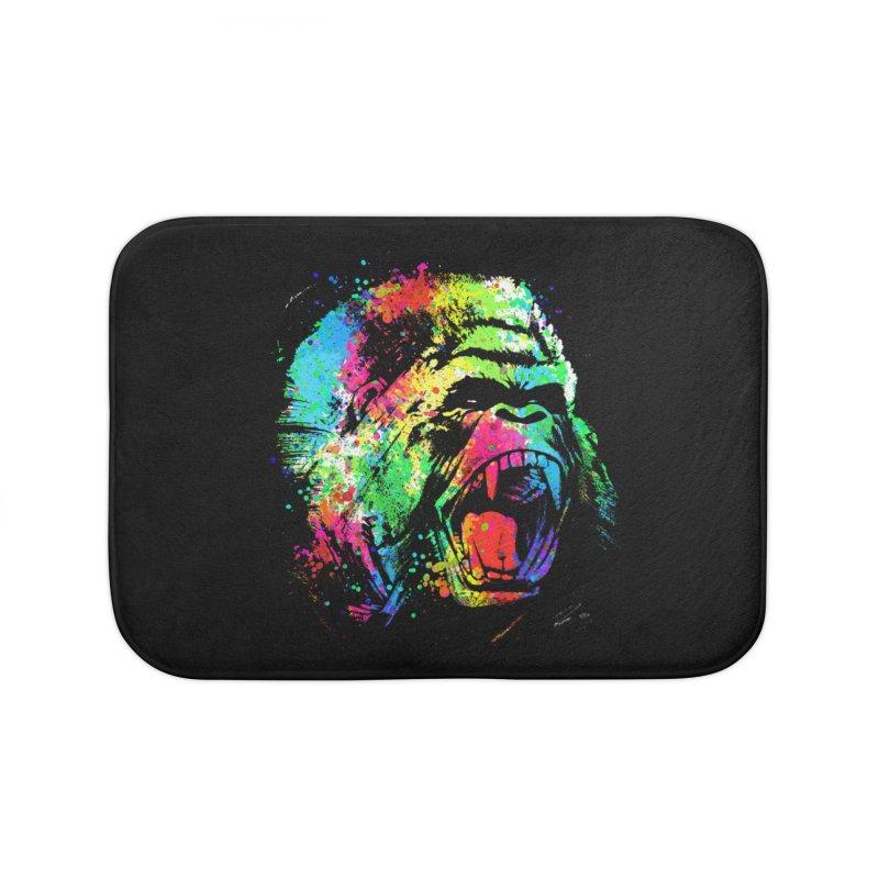 Dripping color Gorilla Home Bath Mat by clingcling's Artist Shop