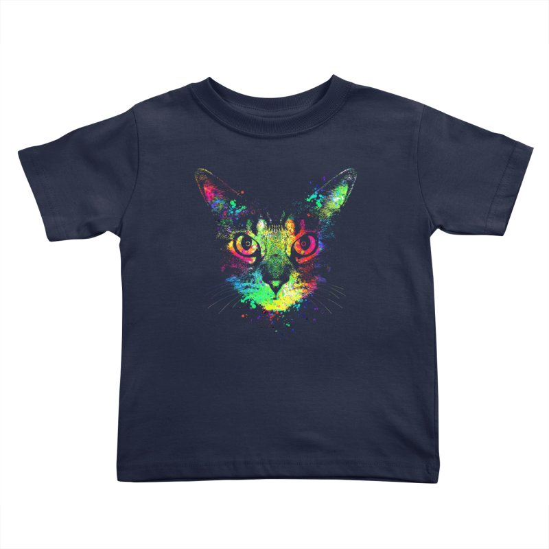 Dripping colorful kitten Kids Toddler T-Shirt by clingcling's Artist Shop