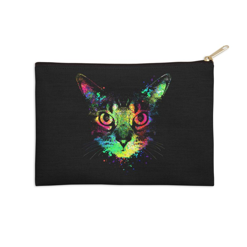 Dripping colorful kitten Accessories Zip Pouch by clingcling's Artist Shop