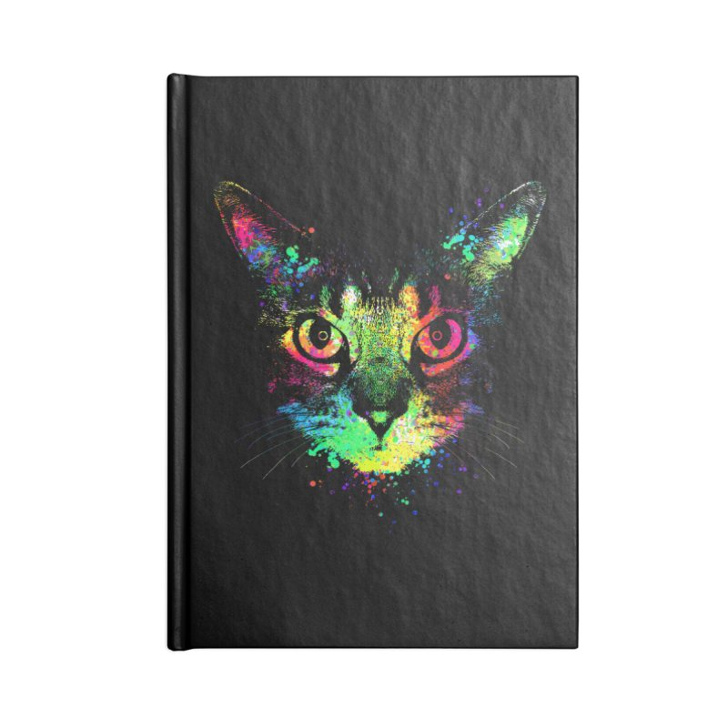 Dripping colorful kitten Accessories Blank Journal Notebook by clingcling's Artist Shop