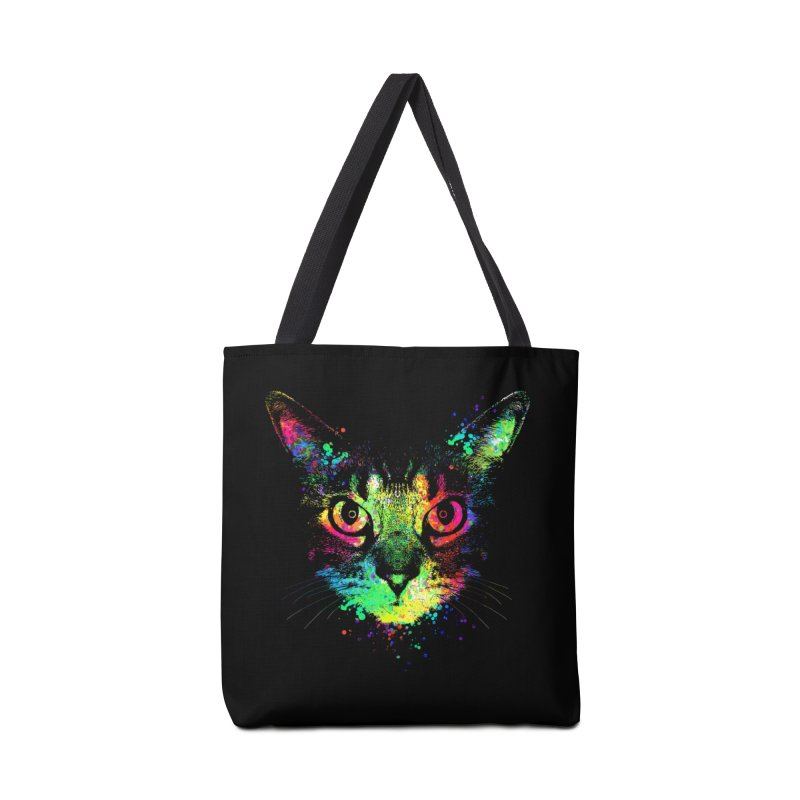 Dripping colorful kitten Accessories Bag by clingcling's Artist Shop