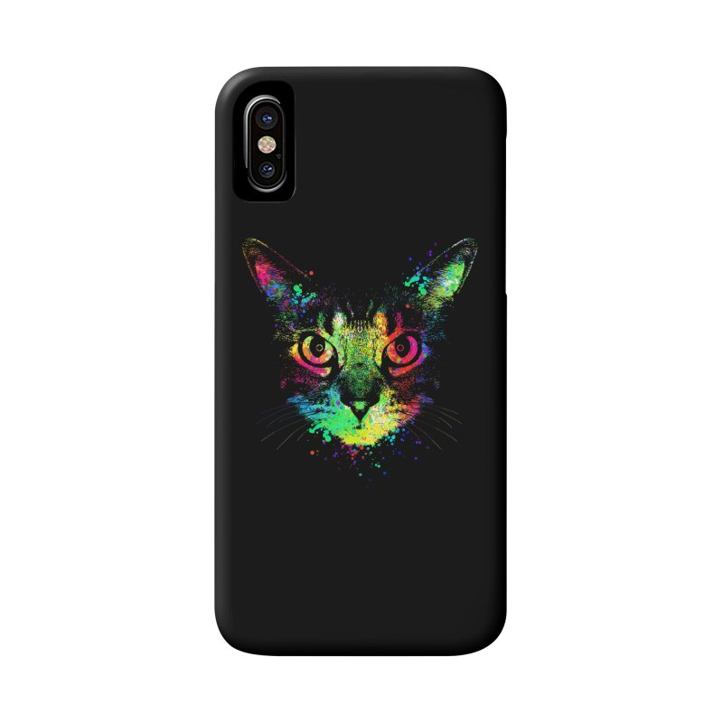 Dripping colorful kitten Accessories Phone Case by clingcling's Artist Shop