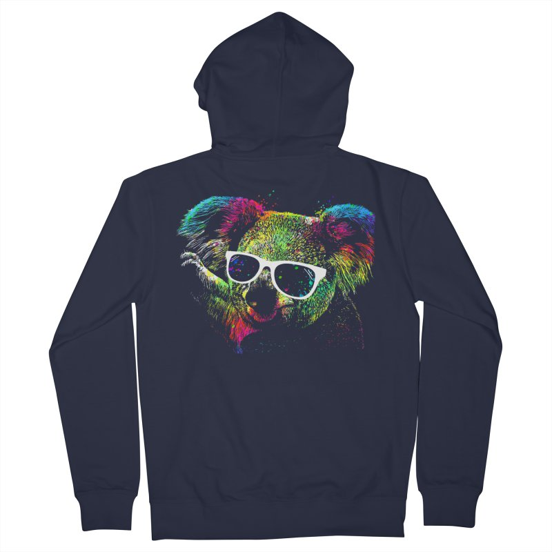 Colorful Koala Women's French Terry Zip-Up Hoody by clingcling's Artist Shop