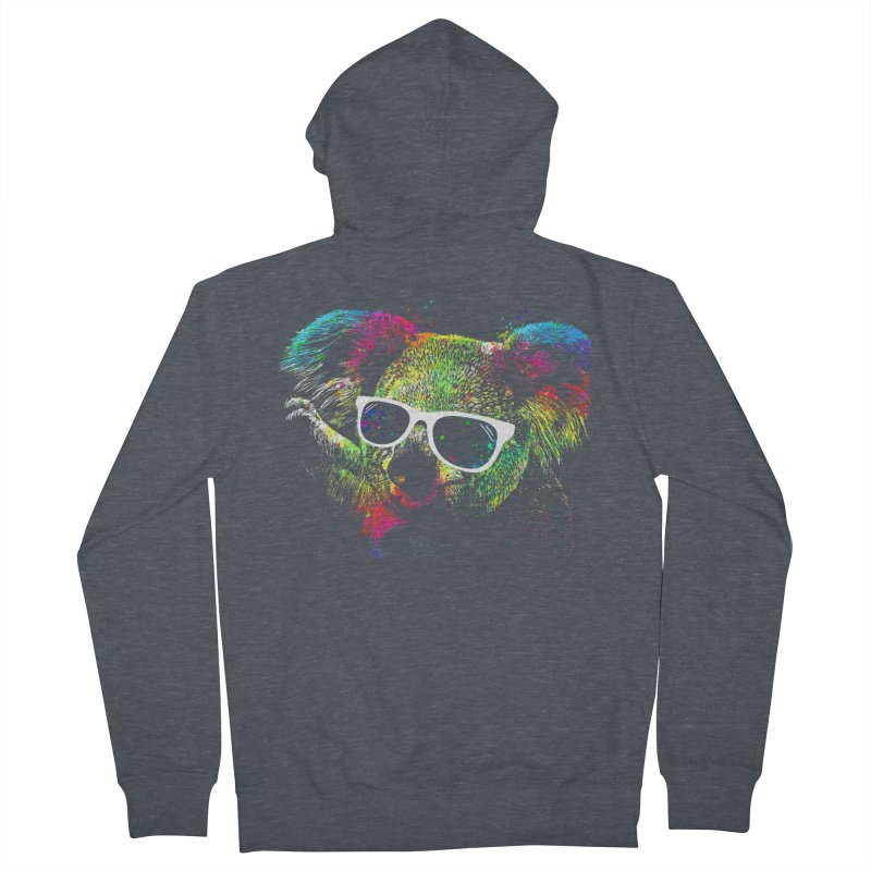 Colorful Koala Men's French Terry Zip-Up Hoody by clingcling's Artist Shop