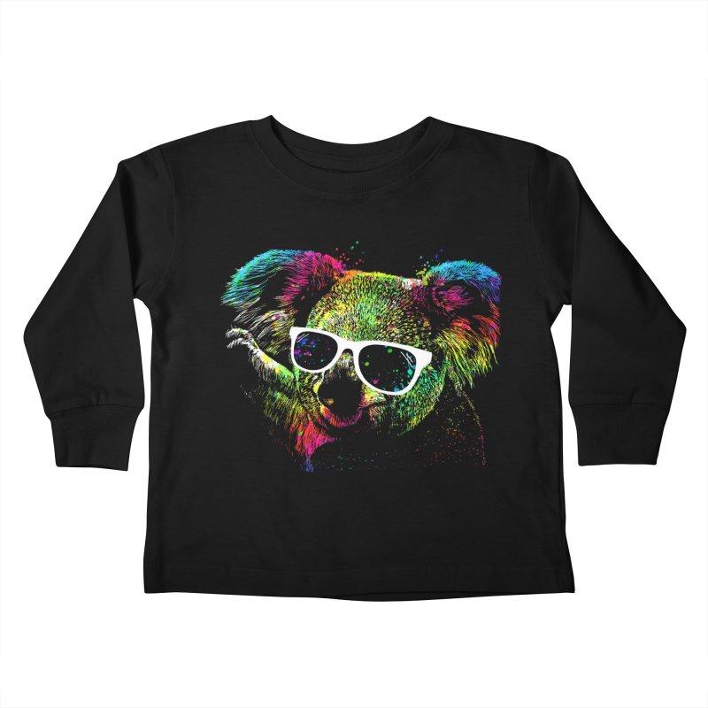 Colorful Koala Kids Toddler Longsleeve T-Shirt by clingcling's Artist Shop