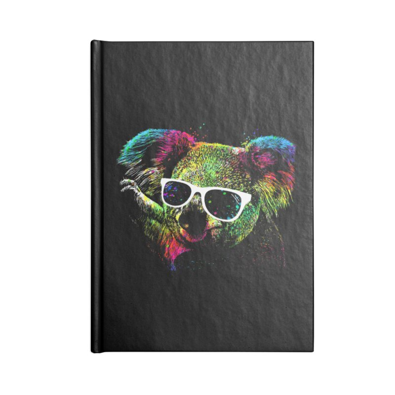 Colorful Koala Accessories Blank Journal Notebook by clingcling's Artist Shop