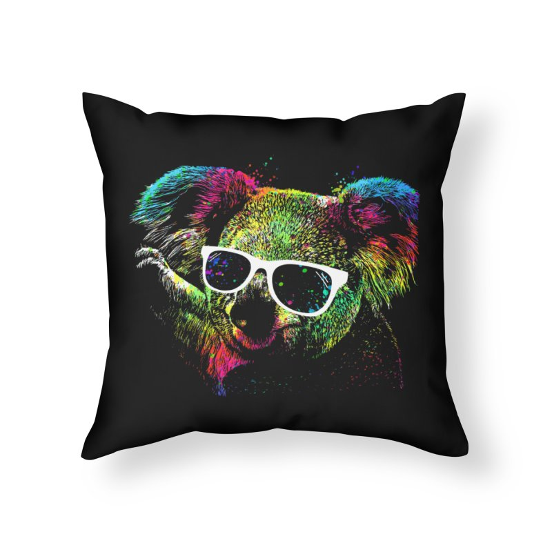 Colorful Koala Home Throw Pillow by clingcling's Artist Shop