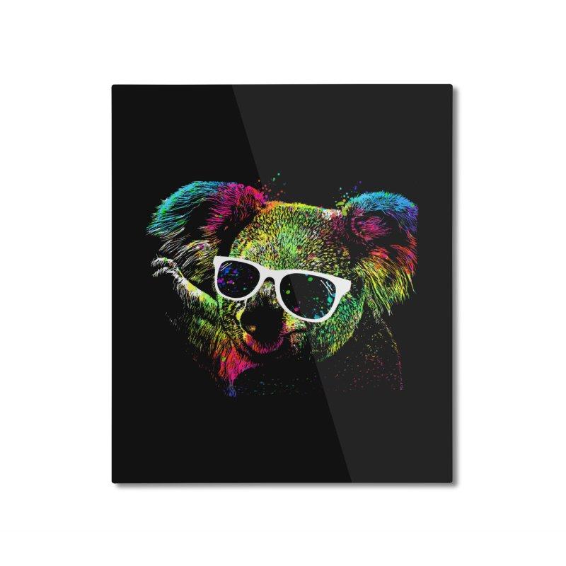 Colorful Koala Home Mounted Aluminum Print by clingcling's Artist Shop