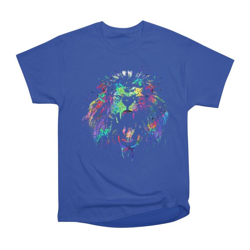Dripping color lion Men's Heavyweight T-Shirt by clingcling's Artist Shop