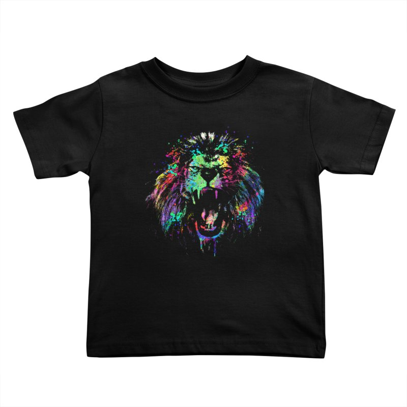 Dripping color lion Kids Toddler T-Shirt by clingcling's Artist Shop