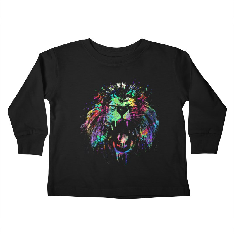 Dripping color lion Kids Toddler Longsleeve T-Shirt by clingcling's Artist Shop