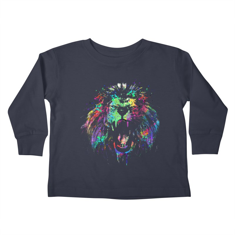 Dripping color lion Kids  by clingcling's Artist Shop