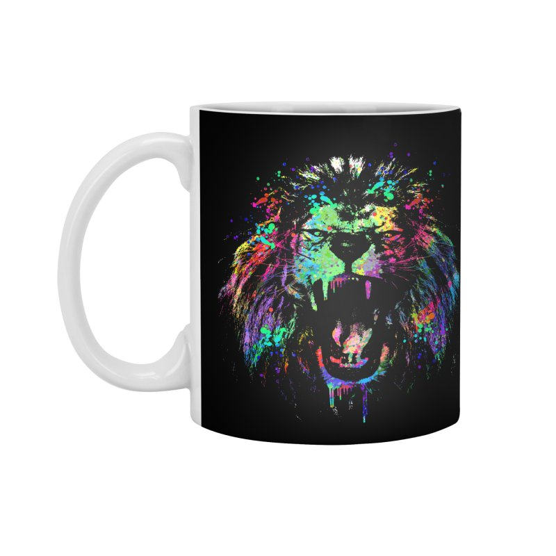 Dripping color lion Accessories Mug by clingcling's Artist Shop