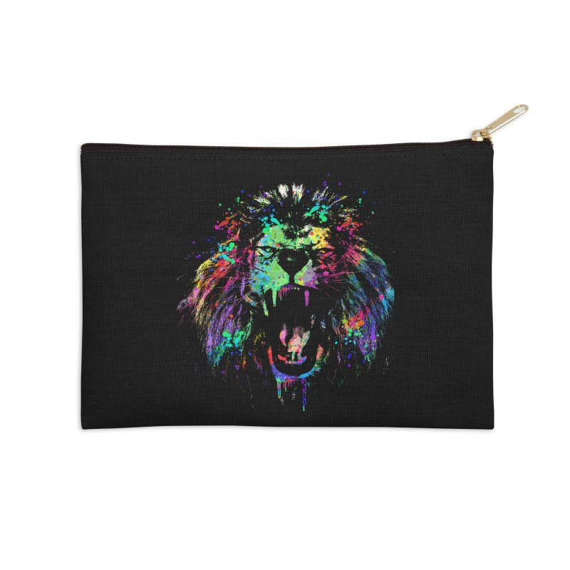Dripping color lion Accessories Zip Pouch by clingcling's Artist Shop