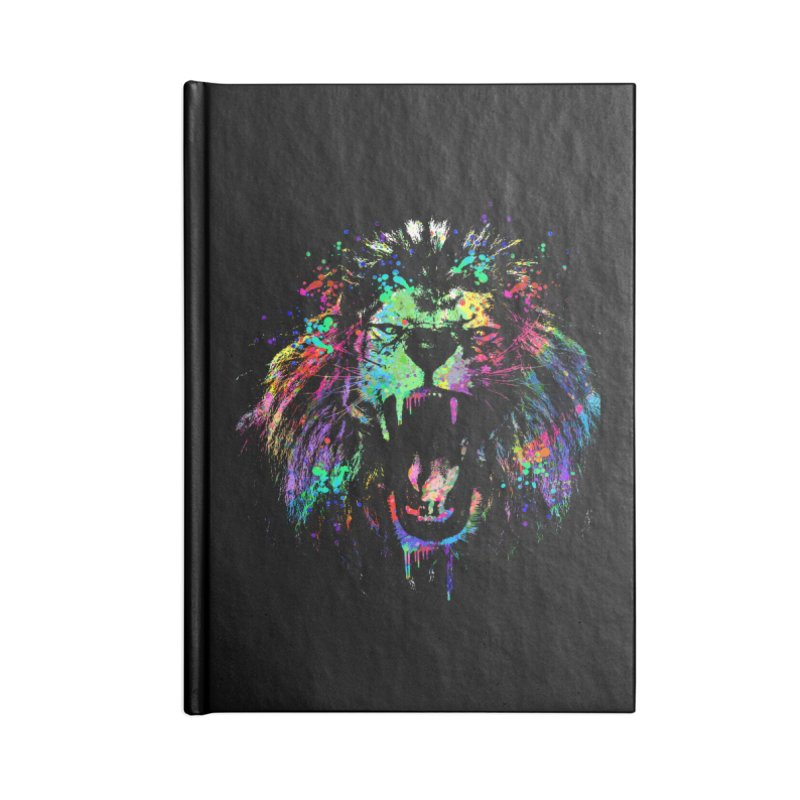 Dripping color lion Accessories Blank Journal Notebook by clingcling's Artist Shop