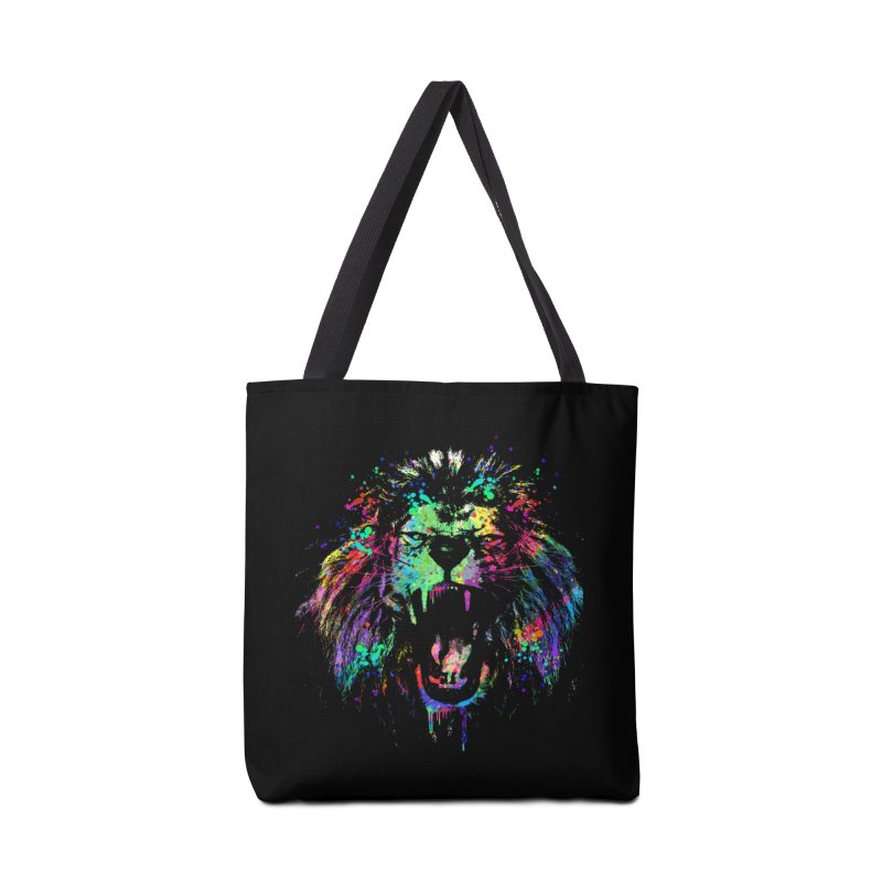 Dripping color lion Accessories Bag by clingcling's Artist Shop