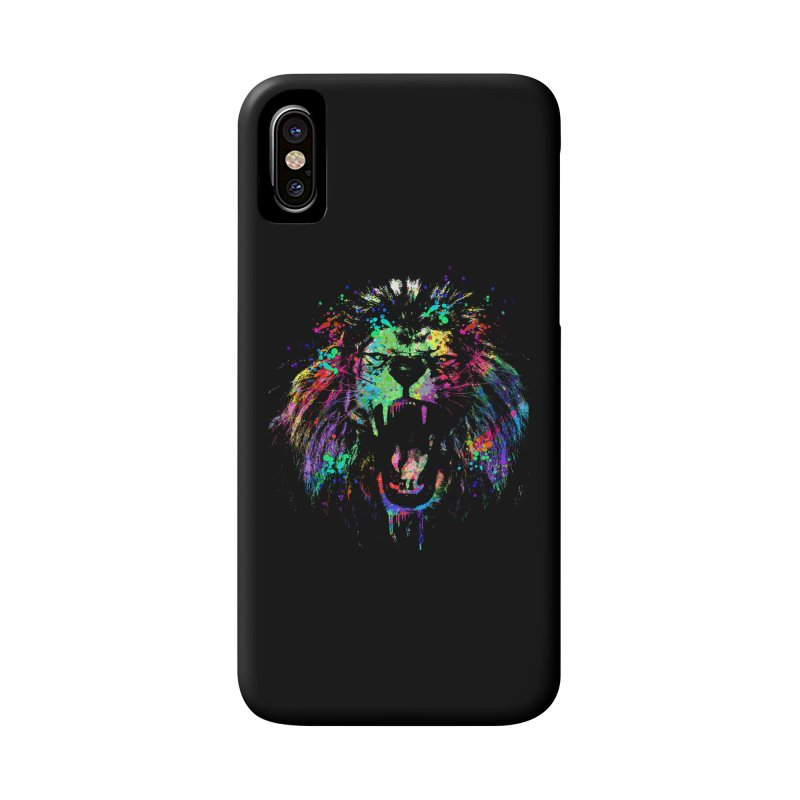 Dripping color lion Accessories Phone Case by clingcling's Artist Shop
