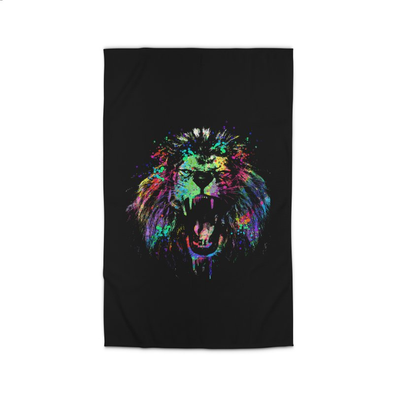 Dripping color lion Home Rug by clingcling's Artist Shop