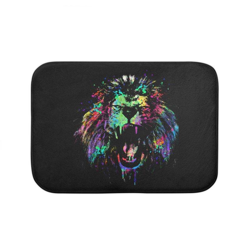 Dripping color lion Home Bath Mat by clingcling's Artist Shop