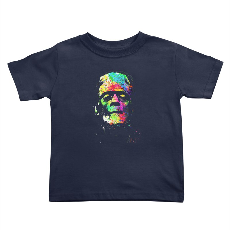 Dripping color frankenstein Kids Toddler T-Shirt by clingcling's Artist Shop