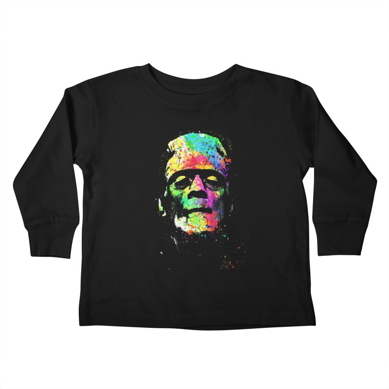 Dripping color frankenstein Kids Toddler Longsleeve T-Shirt by clingcling's Artist Shop