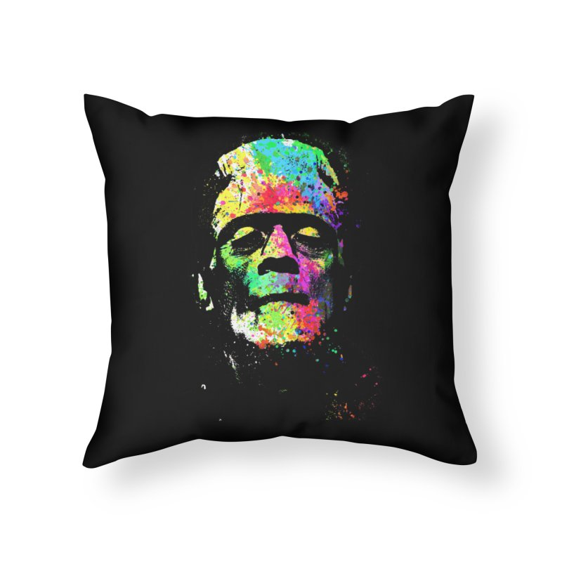 Dripping color frankenstein Home Throw Pillow by clingcling's Artist Shop