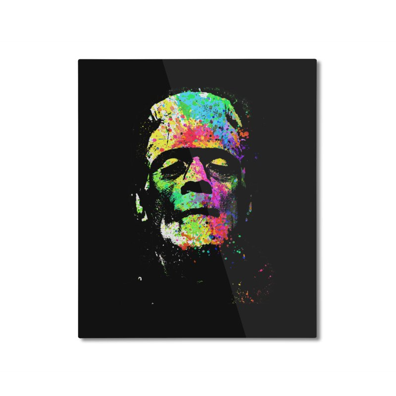 Dripping color frankenstein Home Mounted Aluminum Print by clingcling's Artist Shop