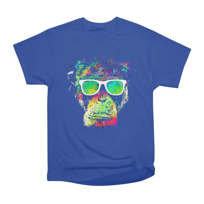 Dripping color monkey Men's Heavyweight T-Shirt by clingcling's Artist Shop