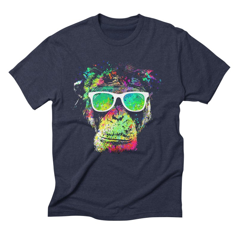 Dripping color monkey Men's Triblend T-Shirt by clingcling's Artist Shop