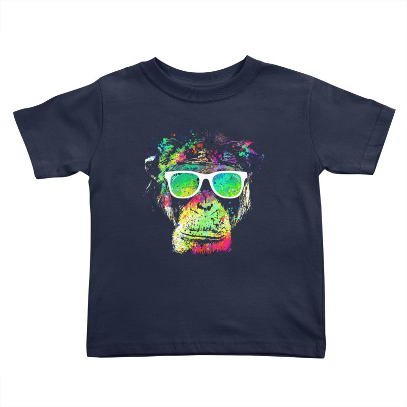 Dripping color monkey Kids Toddler T-Shirt by clingcling's Artist Shop