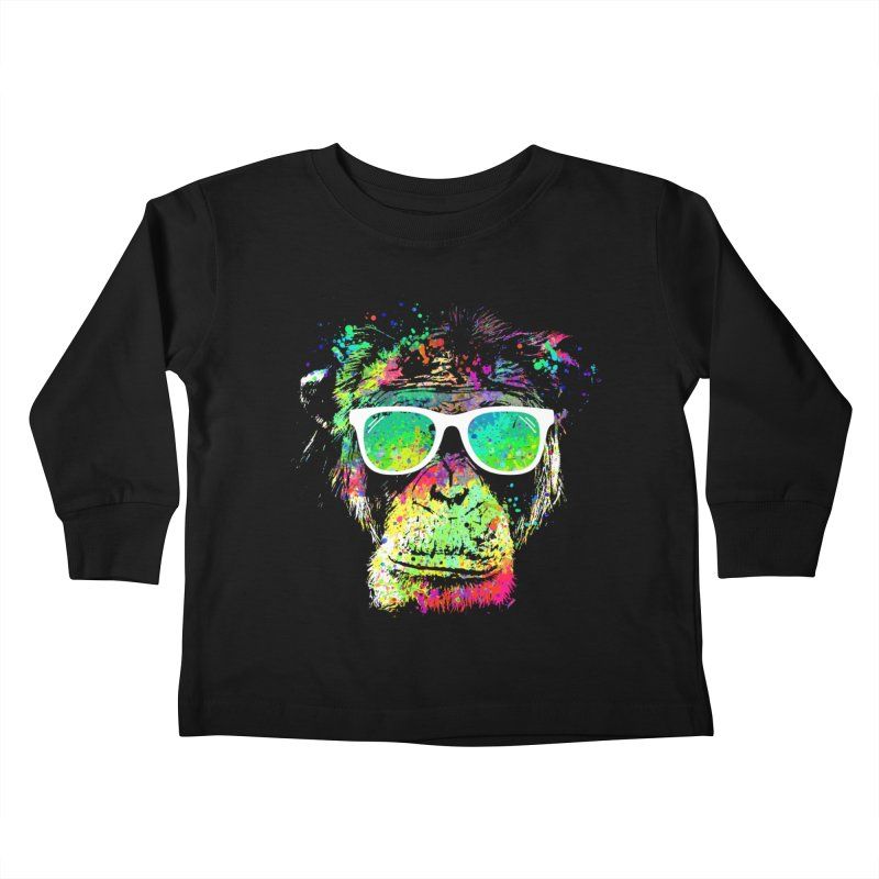 Dripping color monkey Kids Toddler Longsleeve T-Shirt by clingcling's Artist Shop