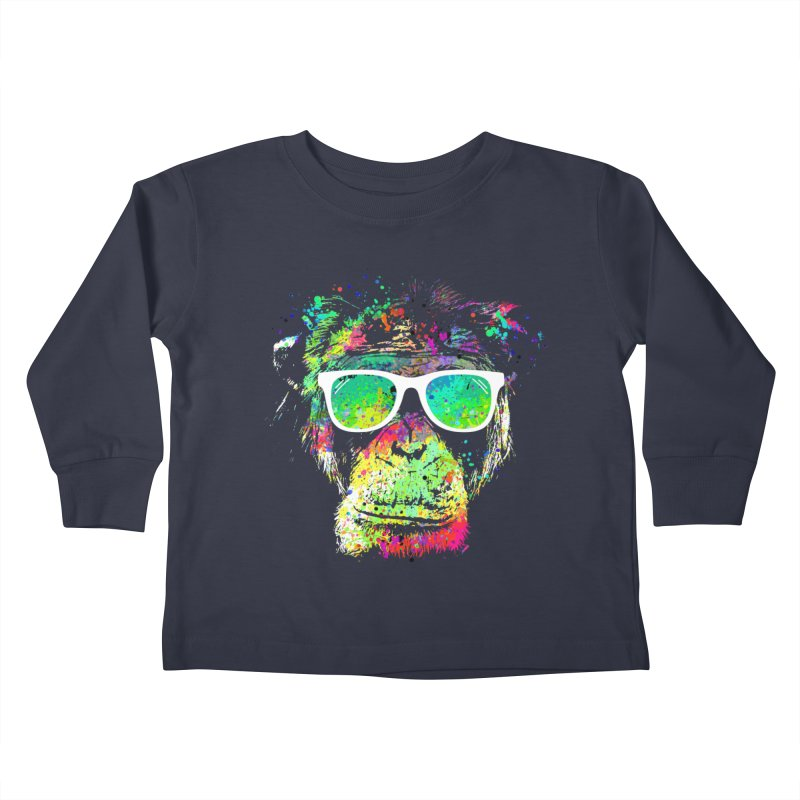 Dripping color monkey Kids  by clingcling's Artist Shop