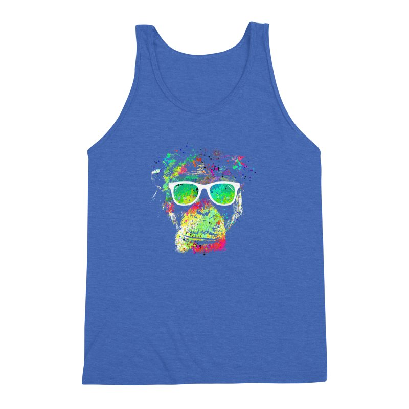 Dripping color monkey Men's Triblend Tank by clingcling's Artist Shop