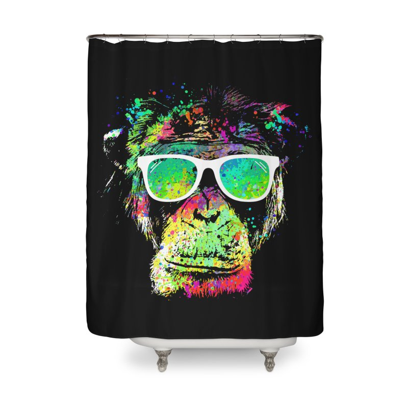 Dripping color monkey Home Shower Curtain by clingcling's Artist Shop