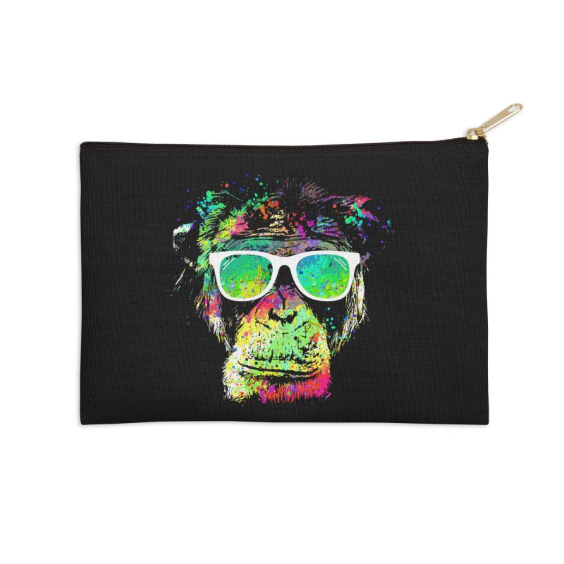 Dripping color monkey Accessories Zip Pouch by clingcling's Artist Shop