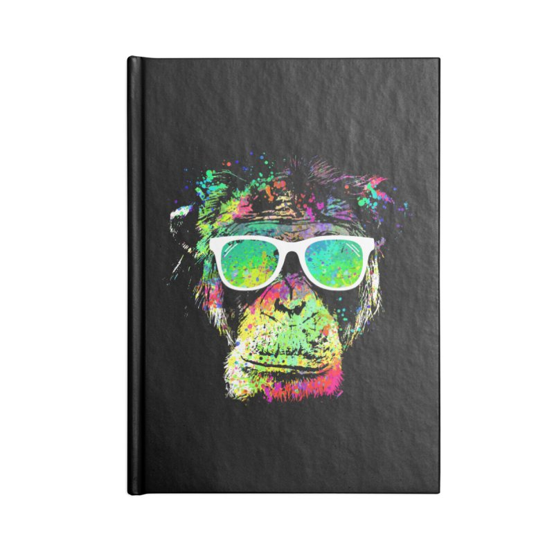 Dripping color monkey Accessories Blank Journal Notebook by clingcling's Artist Shop