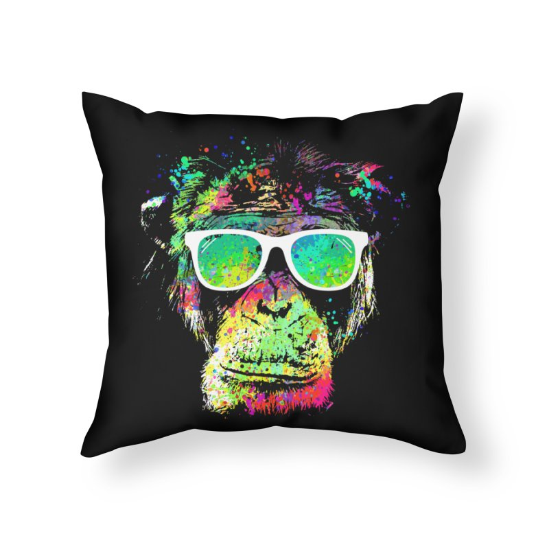 Dripping color monkey Home Throw Pillow by clingcling's Artist Shop