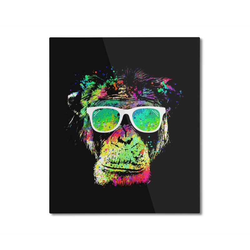 Dripping color monkey Home Mounted Aluminum Print by clingcling's Artist Shop