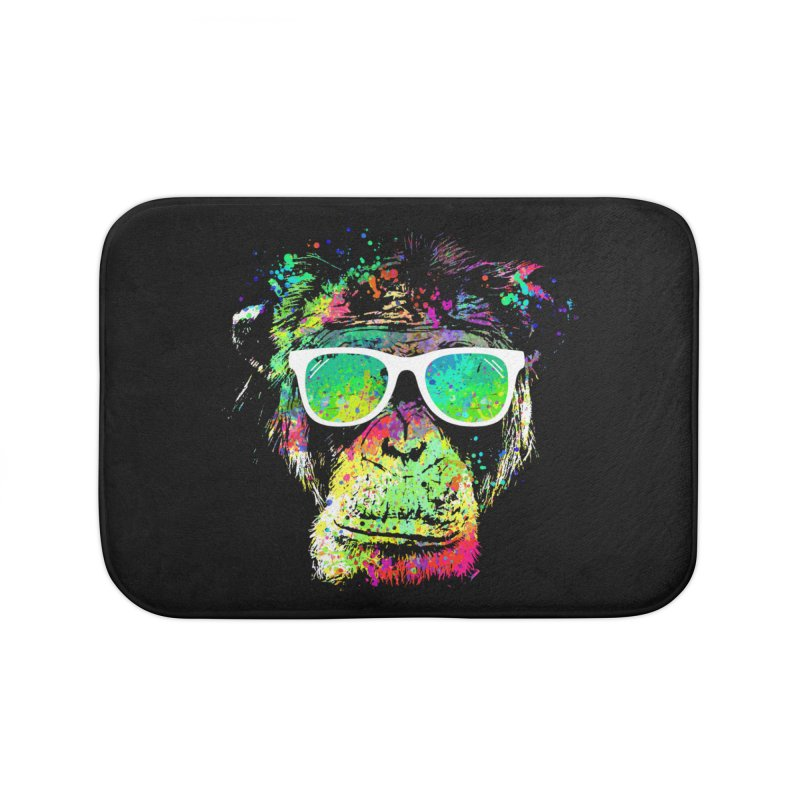 Dripping color monkey Home Bath Mat by clingcling's Artist Shop